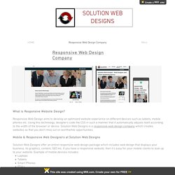 Responsive Web Design Company: Solution Web Designs