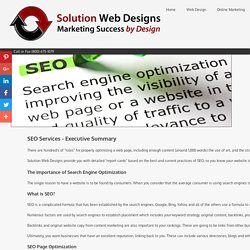 SEO Agency Solution Web Designs Search Engine Optimization