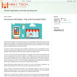 High tech It solution : eCommerce Web Design - Way to Be Successful Online