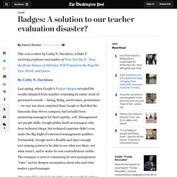 Badges: A solution to our teacher evaluation disaster?