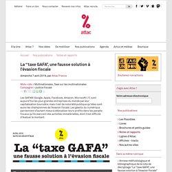 """La """"taxe GAFA"""", une fausse solution à l'évasion fiscale"""
