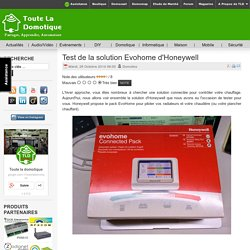 Test de la solution Evohome d'Honeywell