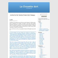 La Chouette dort » Solution Finale (12e)