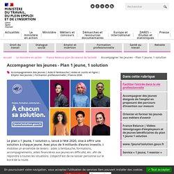 Plan de relance - Emploi des jeunes - #1jeune1solution