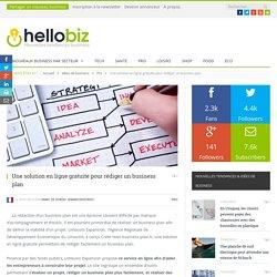 Une solution en ligne gratuite pour rédiger un business plan