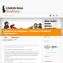 Solution de HelpDesk Opensource