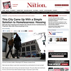 This City Came Up With a Simple Solution to Homelessness: Housing