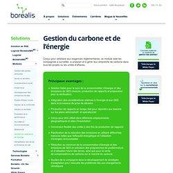 Gestion du carbone et de l'énergie - Borealis
