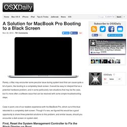 A Solution for MacBook Pro Booting to a Black Screen