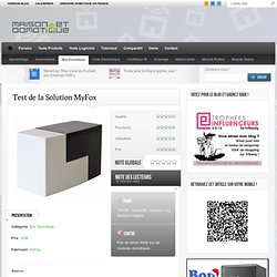 Test de la Solution MyFox