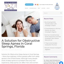 Solution for Obstructive Sleep Apnea in Coral Springs