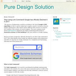 Pure Design Solution: Stop Using Link Command! Google has officially Declined it in 2017
