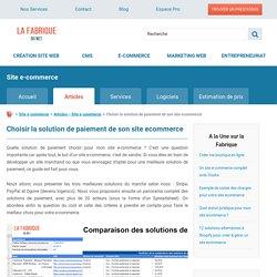 Quelle solution de paiement en ligne choisir pour son site e-commerce ?