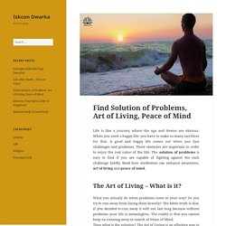 Find Solution of Problems at Iskcon Dwarka Temple