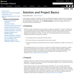 Microsoft Visual Basic - Solution and Project Basics