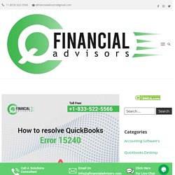 Solution for Quickbooks Error 15240 - How to resolve