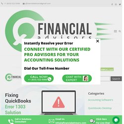 Solution for Quickbooks Error 1303 - How to Resolve