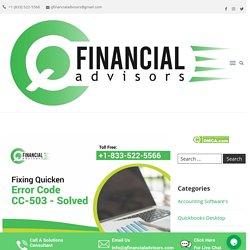 Solution for Quicken Error CC503 - Quicken Help and Support