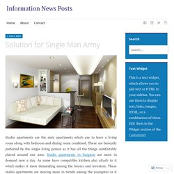 Solution for Single Man Army – Information News Posts