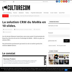 La solution CRM du MoMa en 10 slides. – Culturecom