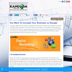 Best Software and Digital Marketing Industry : You Want To Increase Your Business on Google