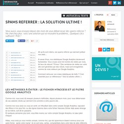 La solution contre le spam referrer : le segment