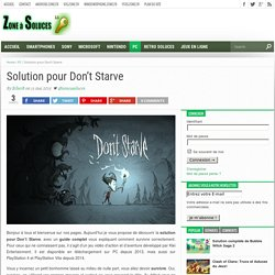 Solution pour Don't Starve - Zoneasoluces.fr