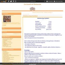 Solution type Synthol - Le blog de L'herboriste