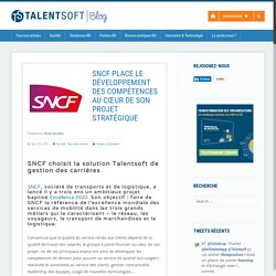 SNCF choisit la solution Talentsoft de gestion des carrières