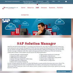 SAP Solution Manager, SAP Training, Get Software And Technology Solutions Of SAP