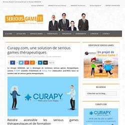 Curapy.com, une solution de serious games thérapeutiques