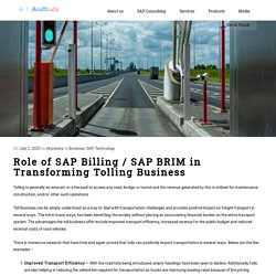 SAP BRIM in transformation of Tolling Business
