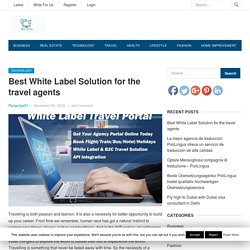 Best White Label Solution for the travel agents - After Online