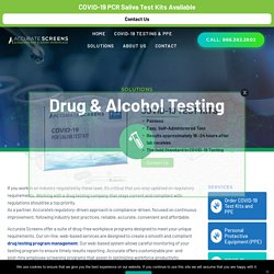 Drug & Alcohol Testing Solutions – Accurate C&S Services, Inc