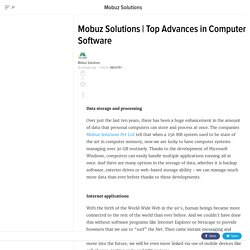 Top Advances in Computer Software