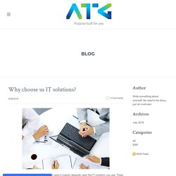 Why choose us IT solutions? - AERIESTECHNOLOGY GROUP