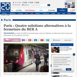Paris : Quatre solutions alternatives à la fermeture du RER A
