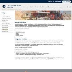 Labour Solutions Australia - Noise Pollution