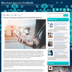 Secure Payment Solutions for Small Businesses ~ Merchant Services Providers