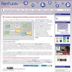 5 solutions en ligne gratuites de tableaux de bord virtuels collaboratifs