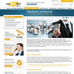 Solutions d'enquête interne en ligne pour les RH, SIRH, Communication et DSI
