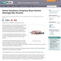 Home Solutions Company Buys Homes Damaged By Tenants