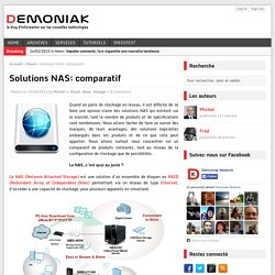 Solutions NAS: comparatif - Demoniak Network