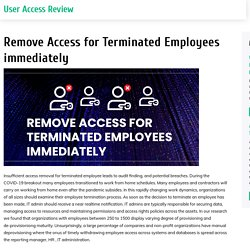 Access Removal Solutions for compliance