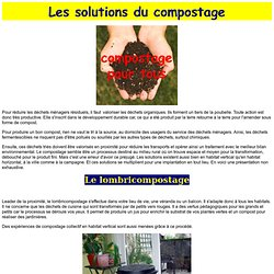 solutions du compostage