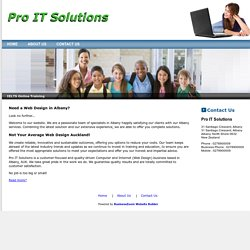 Welcome to Pro IT Solutions - Computer and Internet - Web Design in Albany, Auckland, AUK