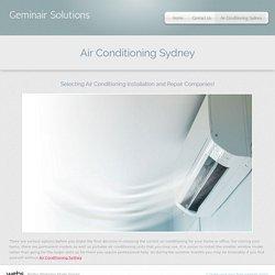 Geminair Solutions - Air Conditioning Sydney
