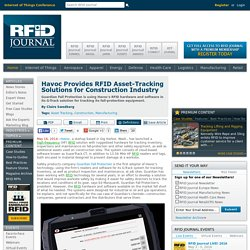 Havoc Provides RFID Asset-Tracking Solutions for Construction Industry