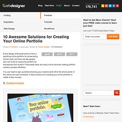 10 Awesome Solutions for Creating Your Online Portfolio