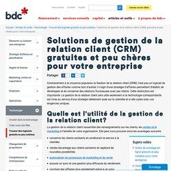 Solutions CRM gratuites/peu chères